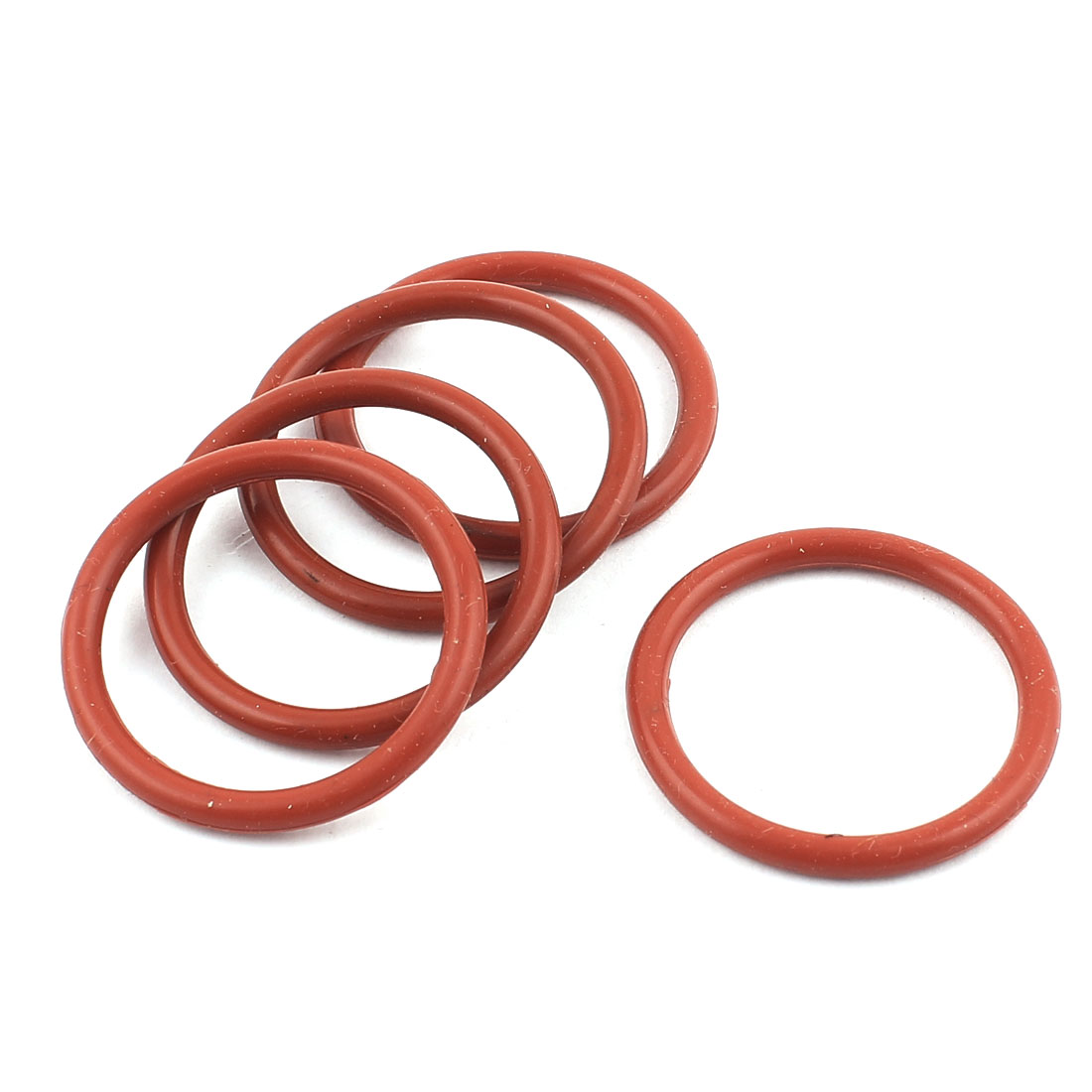 Rubber 33mm x 27mm x 3mm Oil Seal O Rings Gaskets Washers Brick Red 5 Pcs