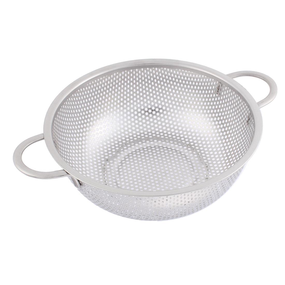 Kitchen Fruit Stainless Steel Basket Strainer 19.5cm Dia