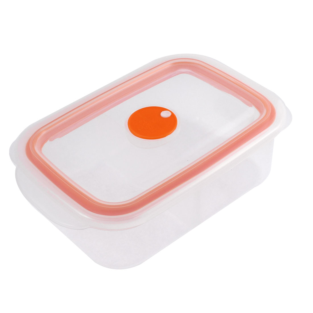 Home School Plastic Dual Compartments Food Storage Lunch Box Orange