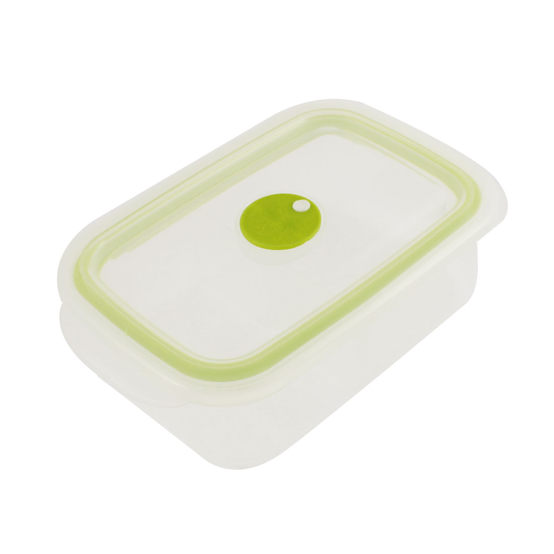 Home School Plastic Two Compartments Lunch Box Storage Light Green