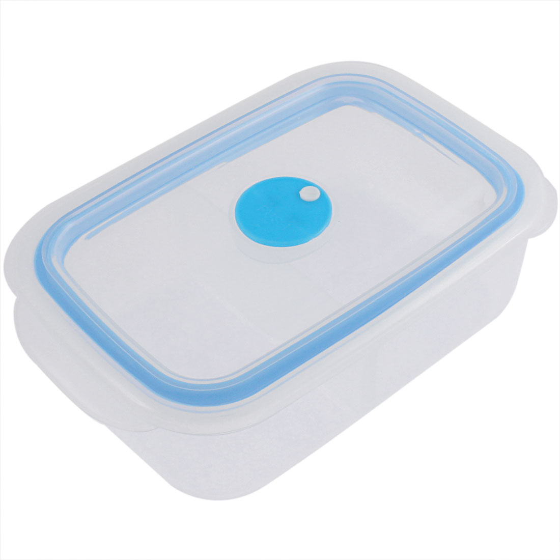Home School Dual Compartments Salad Food Storage Lunch Box Blue