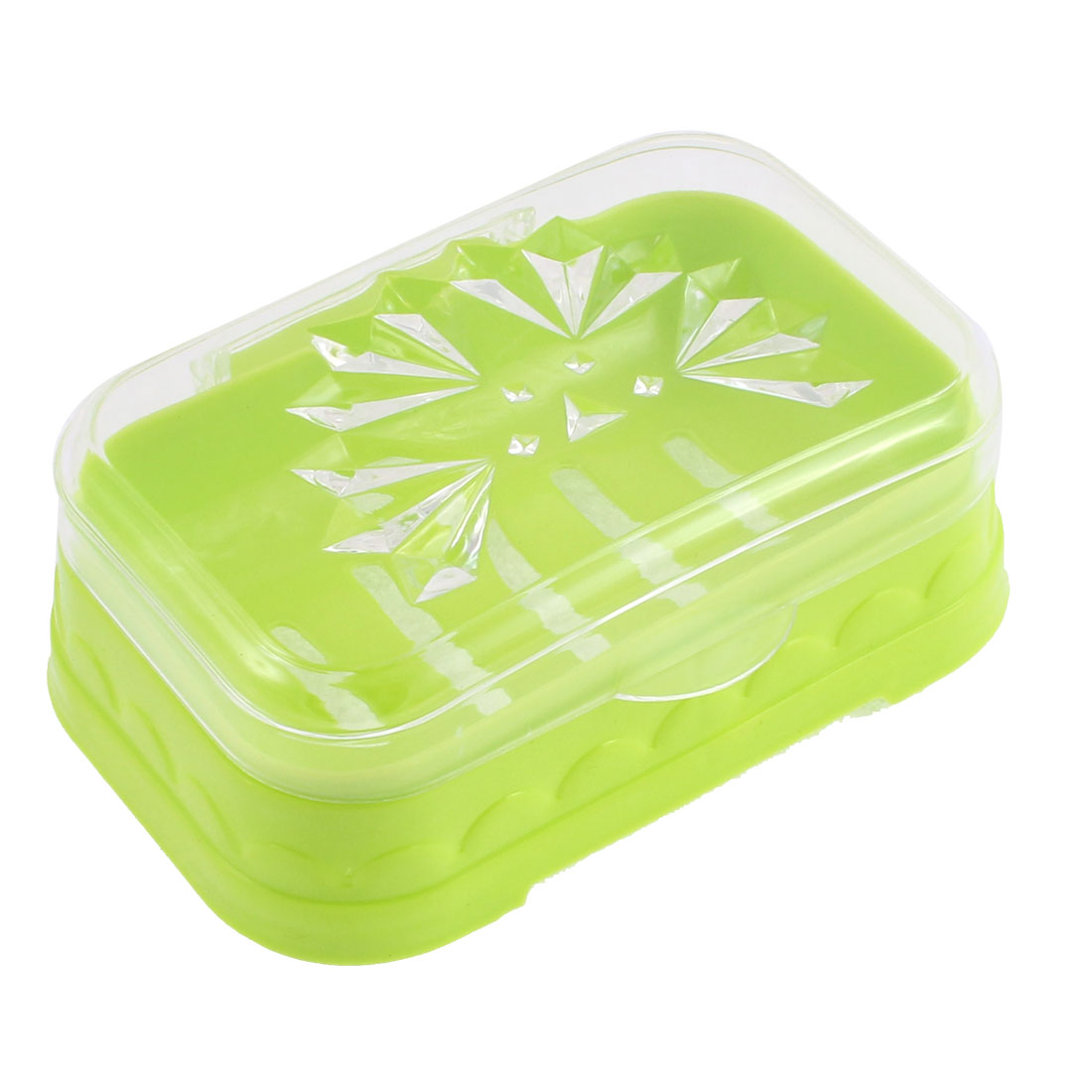 Travel Bathroom Portable Soap Dish Case Holder Box Clear Light Green