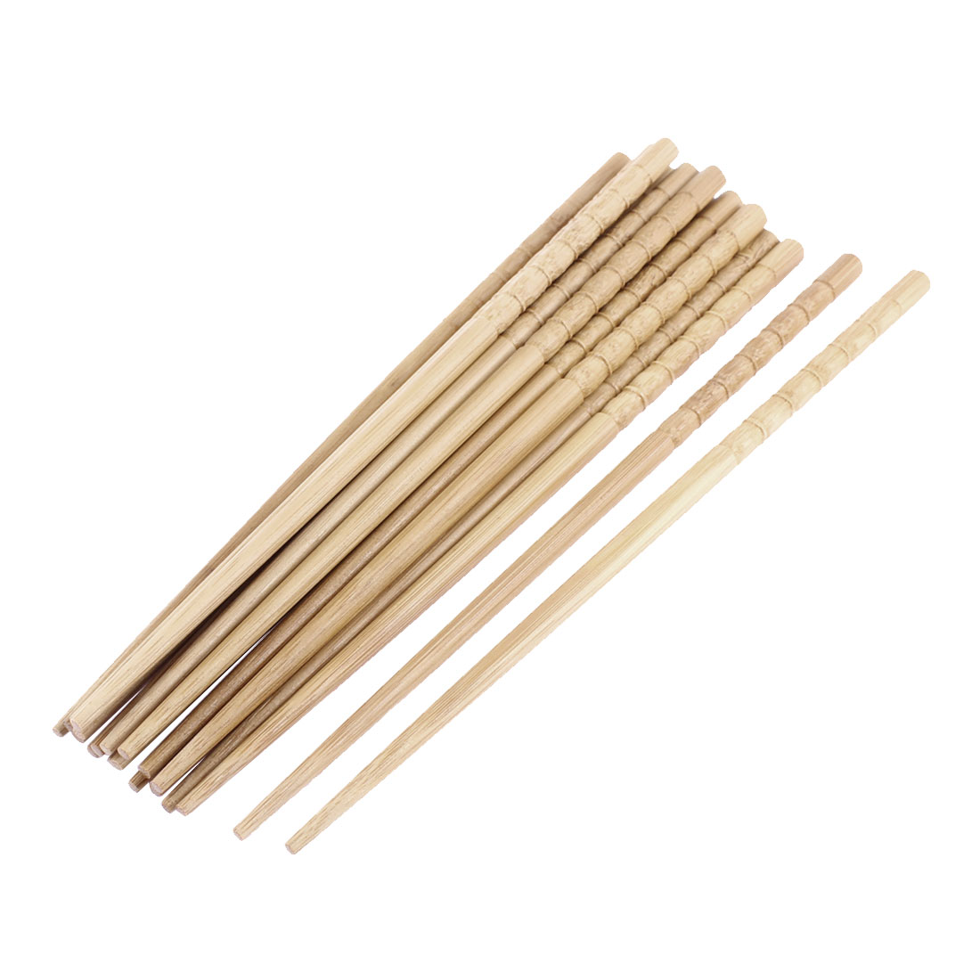 Tableware Bamboo Chinese Traditional Chopsticks Light Brown 10 Pairs