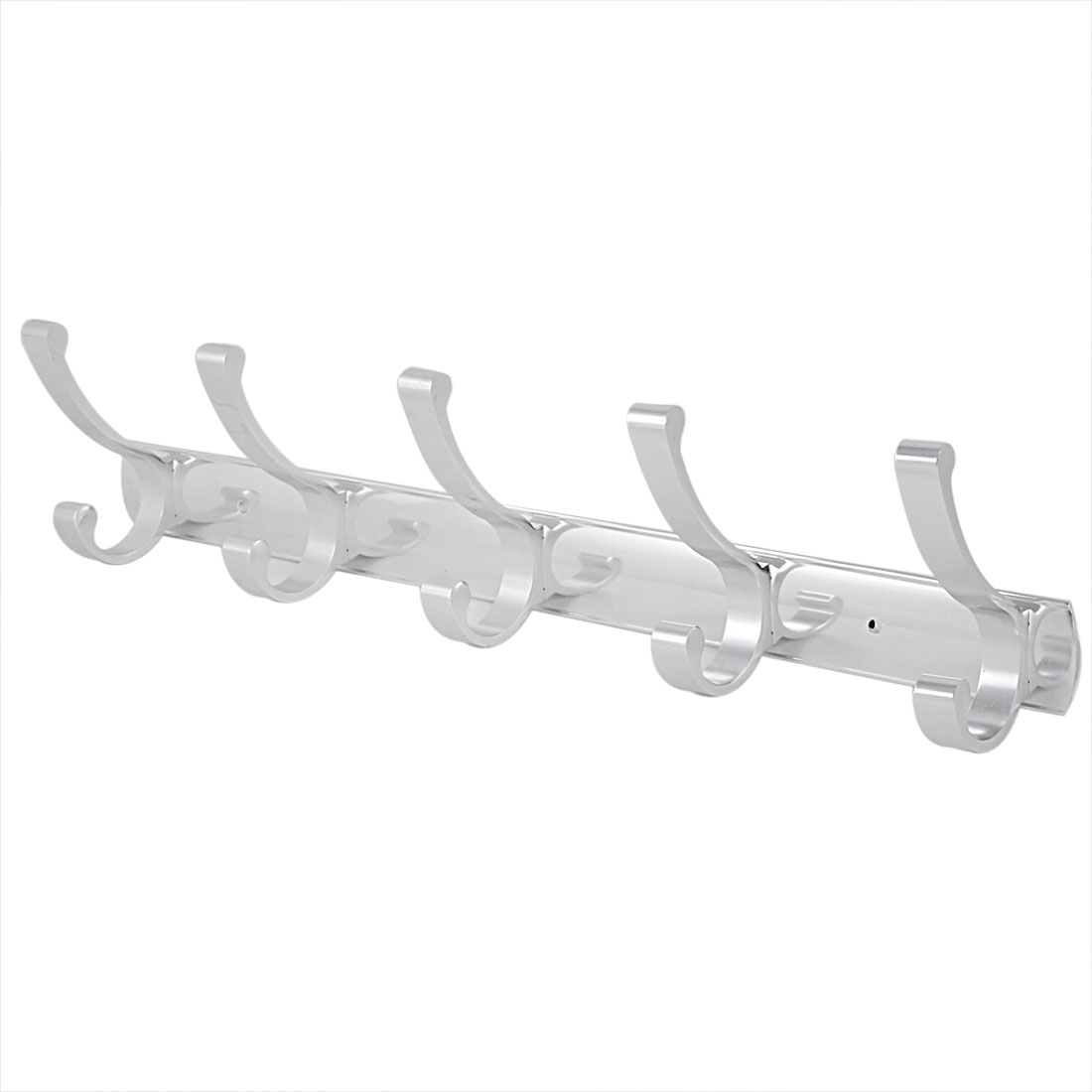 Coat Hat Towel Hanging Wall Mounted 5 Hooks Rail Rack
