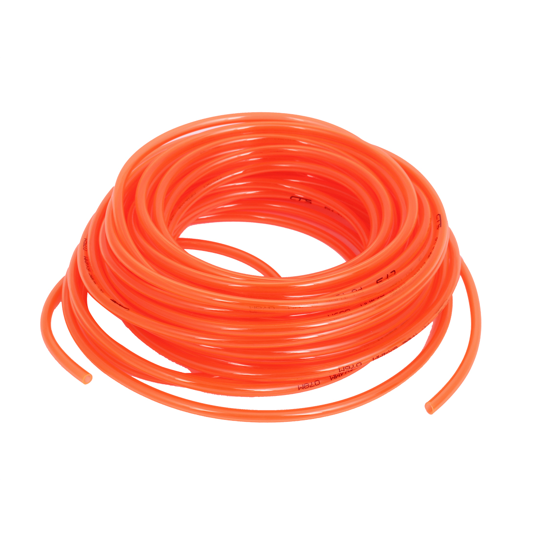 18M 59Ft Length 6mm x 4mm Dia Pneumatic Polyurethane PU Air Compressor Pneumatic Tube Tubing Pipe Hose Orange