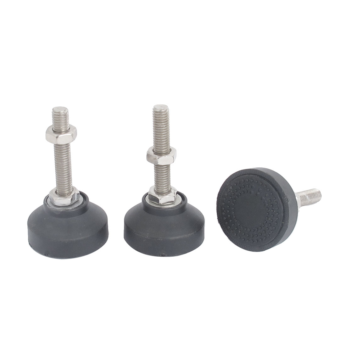3 Pcs Machine Furniture M10 x 60mm Threaded Leveling Feet Foot Mounts Pad Mat