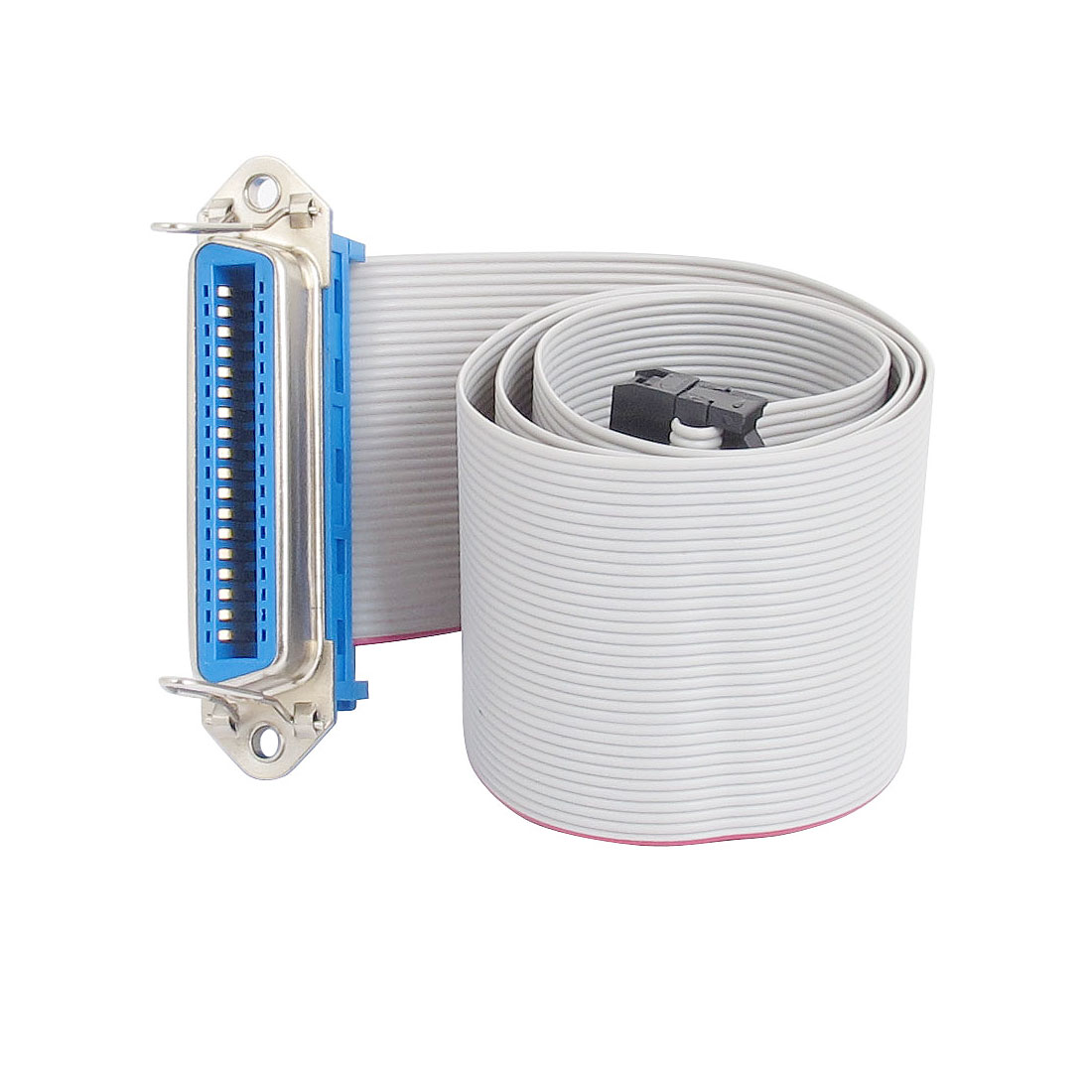 Female/Female IDC 34 Pin Connector Centronics 36 Pin Crimp Flat Motherboard Extension Ribbon Cable 23""
