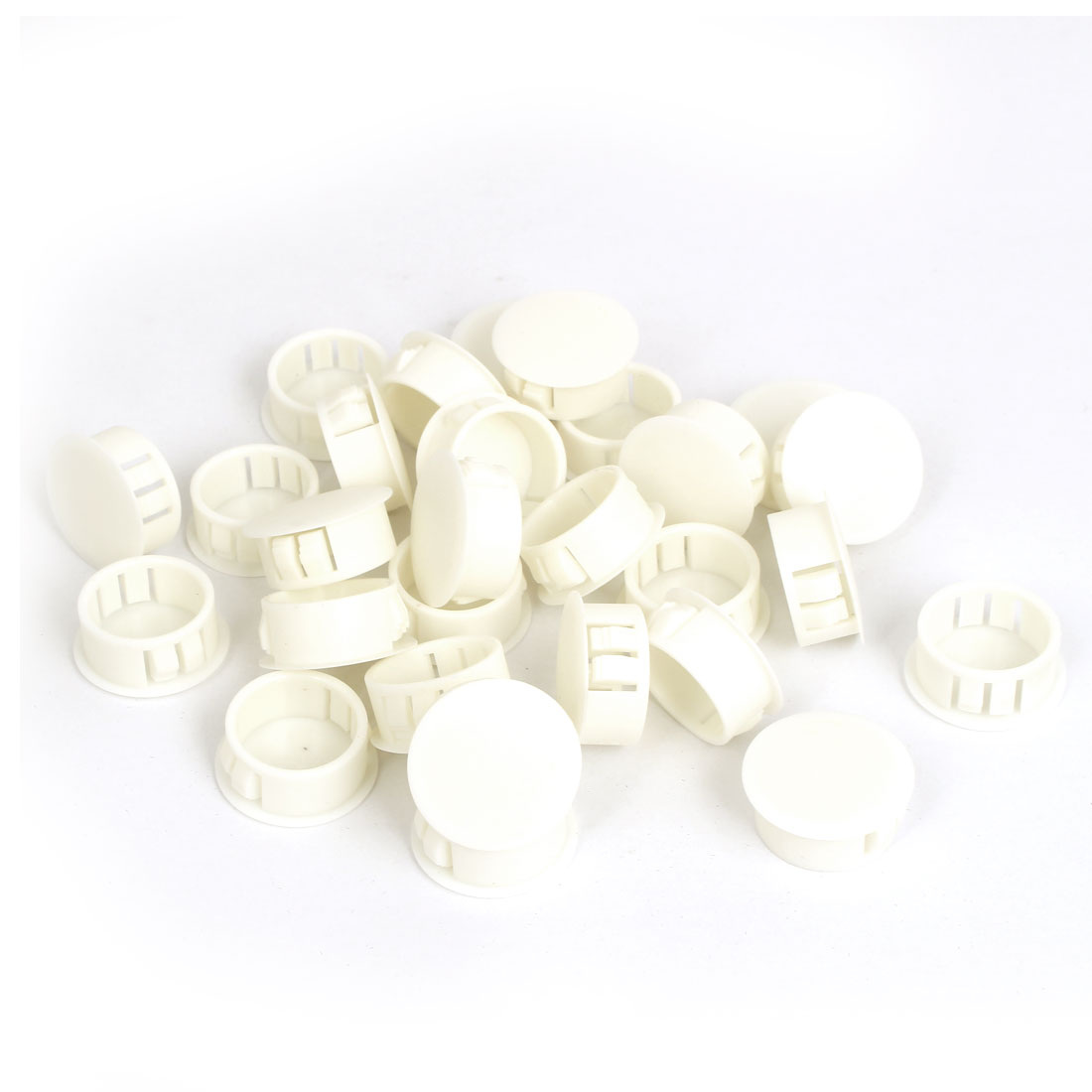 28 Pcs SKT-22 Insulated White Plastic Snap in Mount Blank Locking Hole Cover Harness Fastener 22.2mm