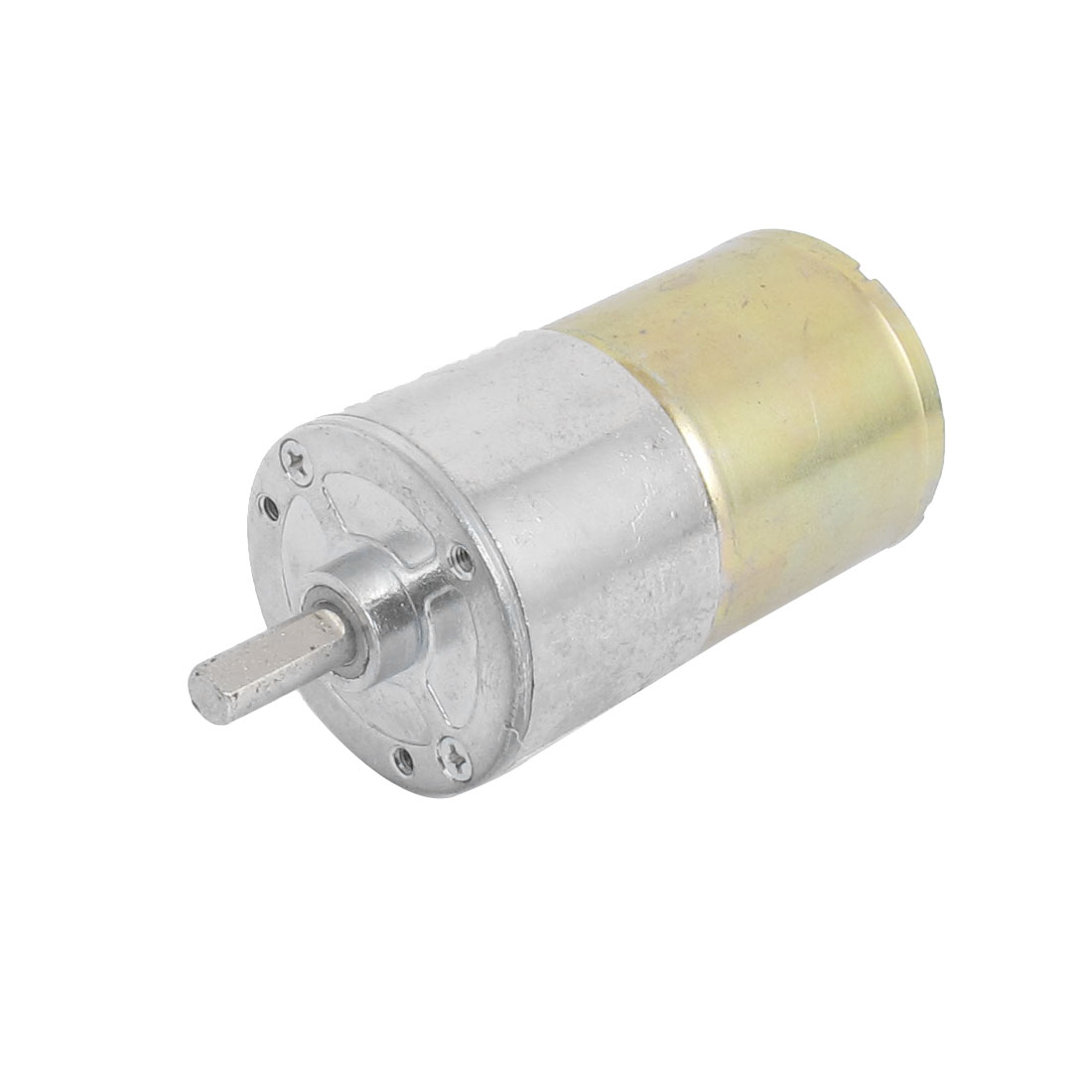 DC 12V 20RPM 5.5mm Shaft Dia Cylindrical Geared Gear Box Speed Reducing Electric Motor