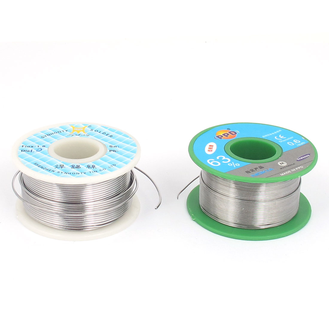 2 Pcs 1mm 0.6mm Diameter 63/37 Rosin Core Flux Tin Lead Roll Soldering Solder Wire Reel Spool