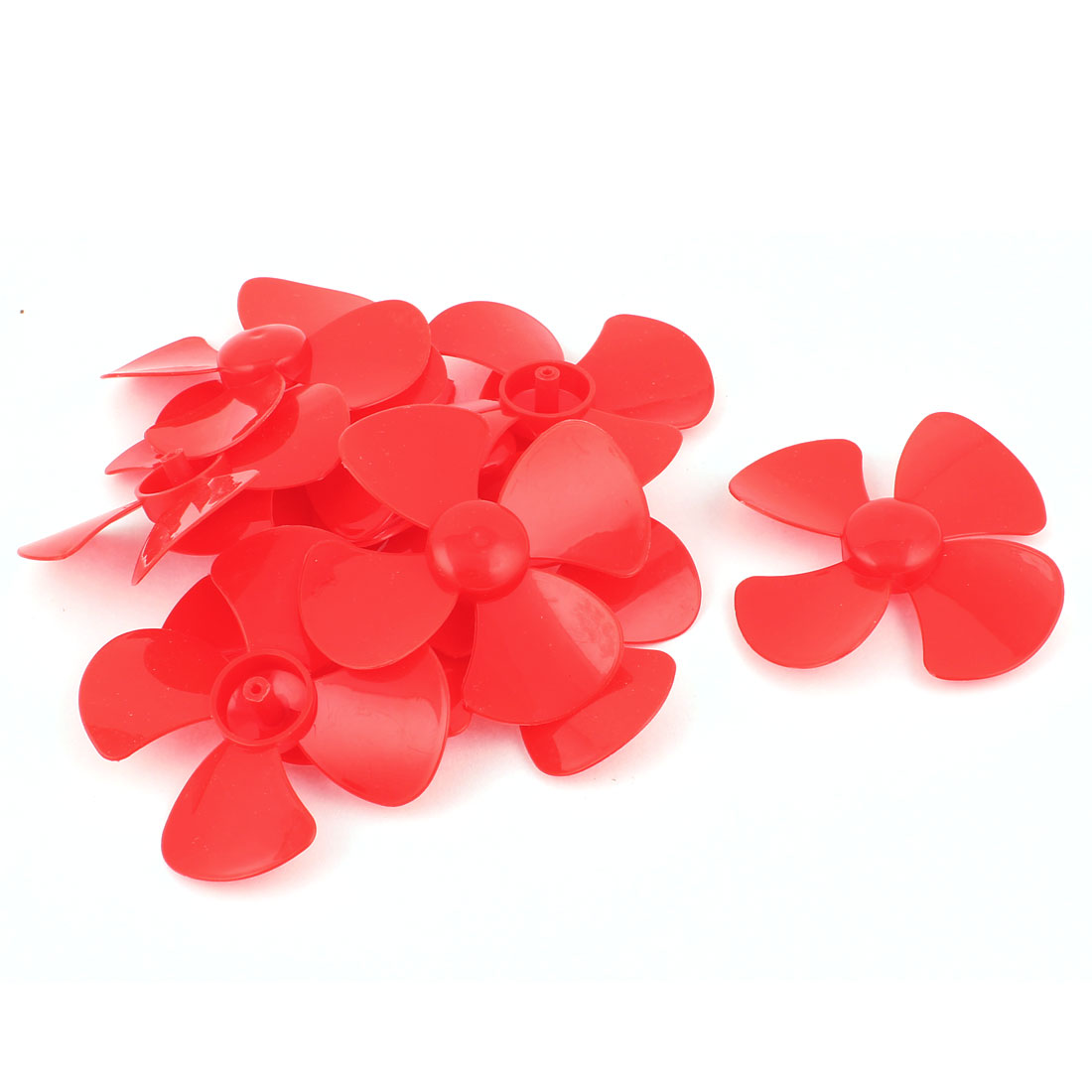 "10 Pcs Fan Style Brushless Motor 4 Vanes RC Boat Airplane Propeller 3"" DIY Red"