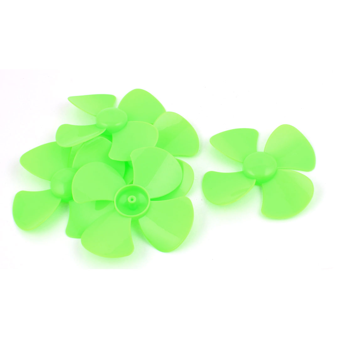 "5 Pcs Fan Style Brushless Motor 4 Vanes RC Boat Airplane Propeller 4"" DIY Green"