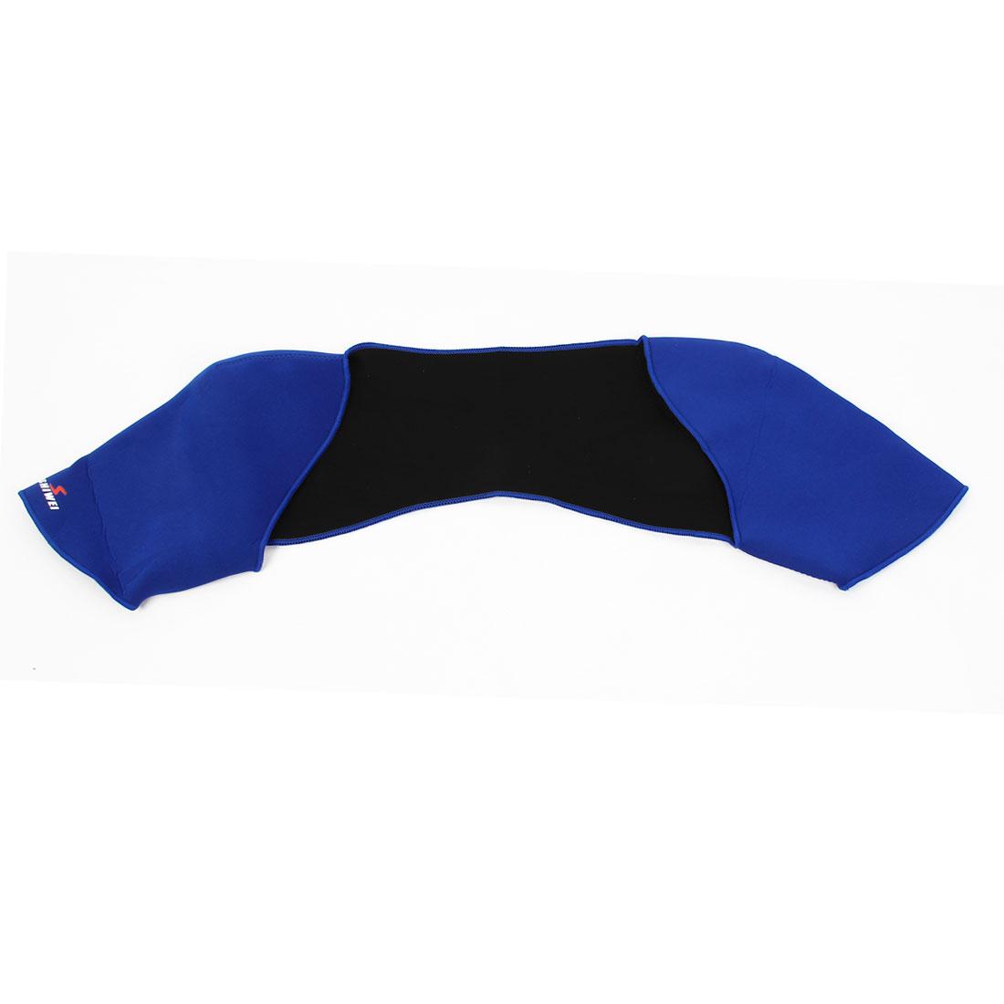 Neoprene Sport Double Shoulder Elastic Support Arthritis Injury Brace Protector Blue