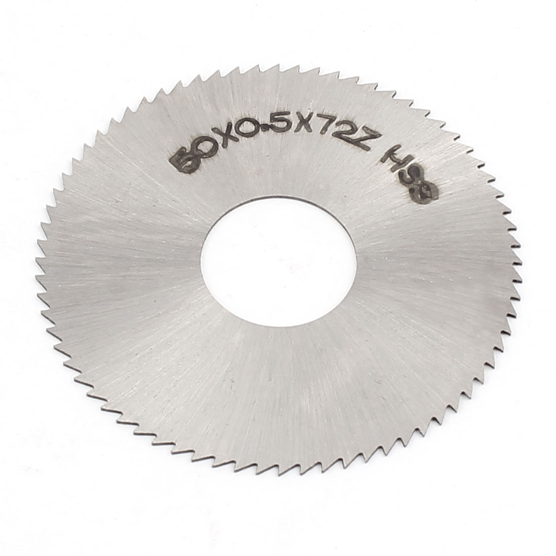 50 x 0.5mm 72 Teeth Steel Slitting Saw Slipper Plate Sheet Silver Tone