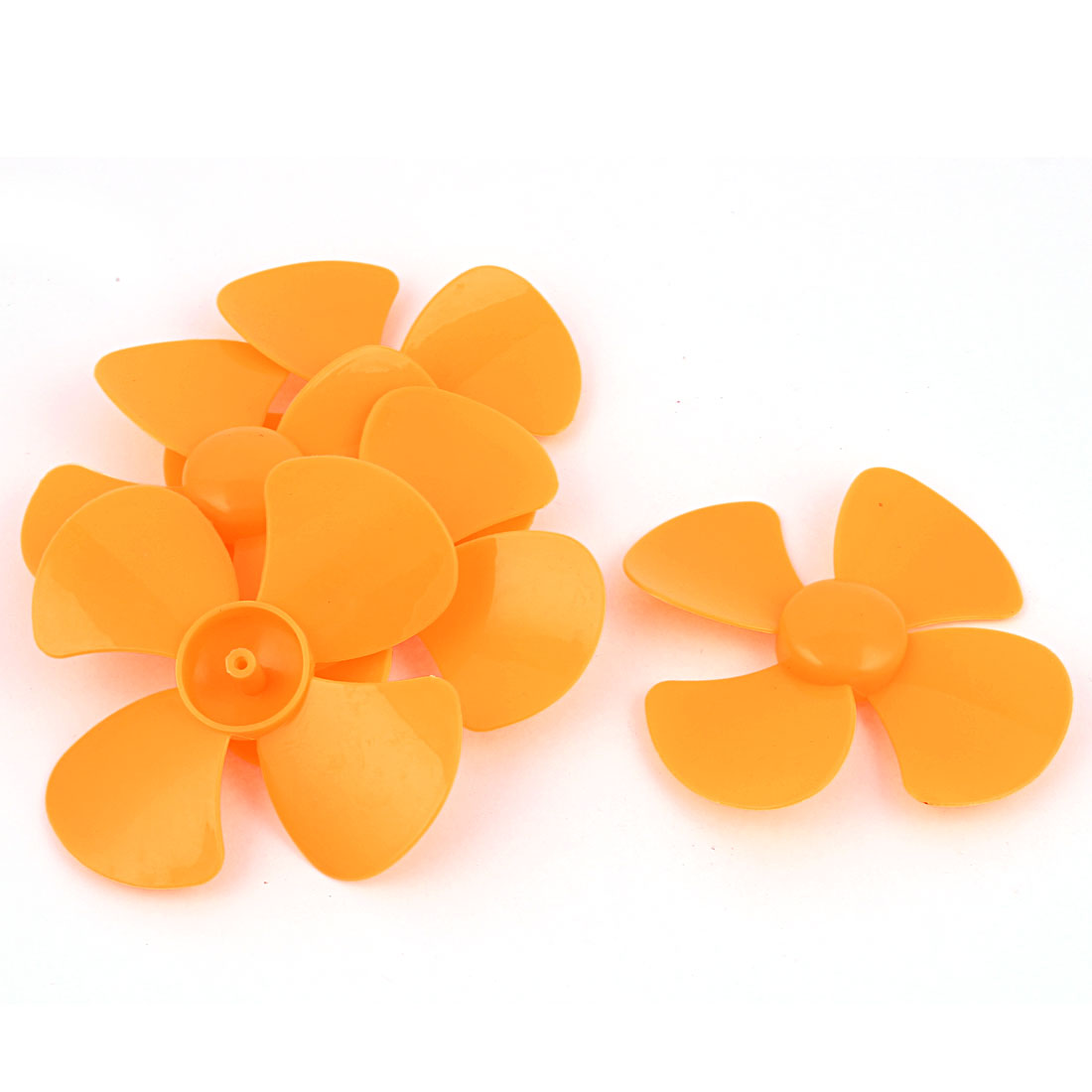 "5 Pcs Fan Style Brushless Motor 4 Vanes RC Boat Airplane Propeller 4"" DIY Yellow"