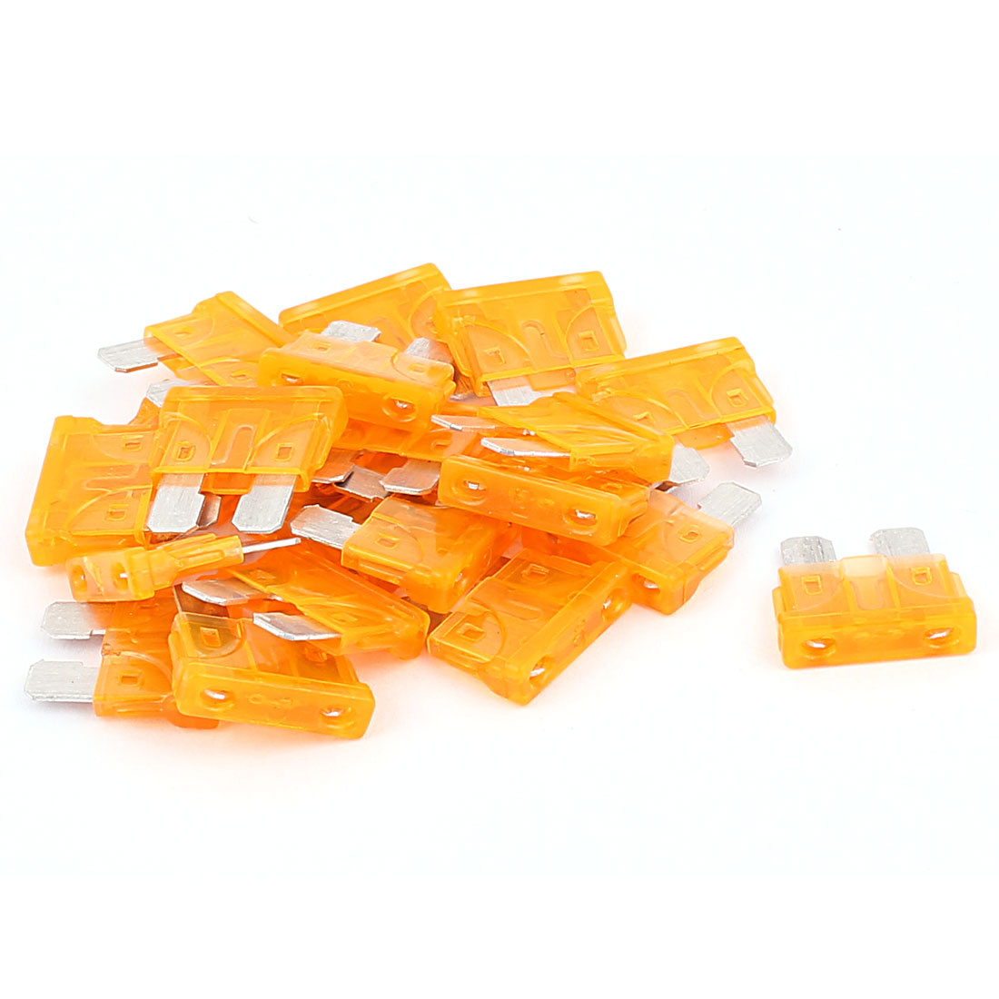 20pcs 5A Orange Plastic Housing Blade Fuse for Automotive Car Truck Motorcycle