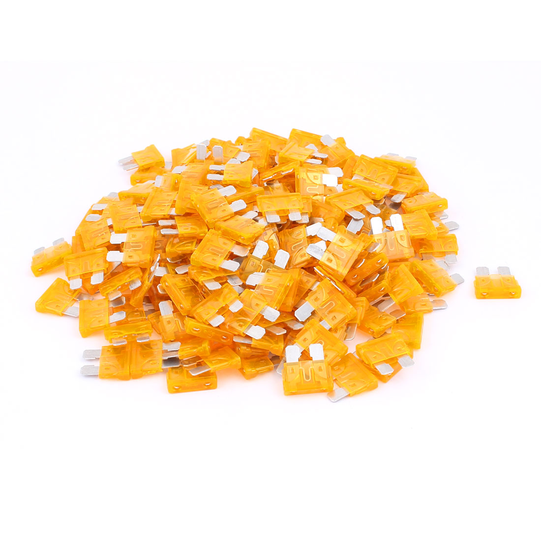 200pcs Mini Automotive Motorbike Car Caravan SUV Boat ATC Blade Fuses 5A Orange