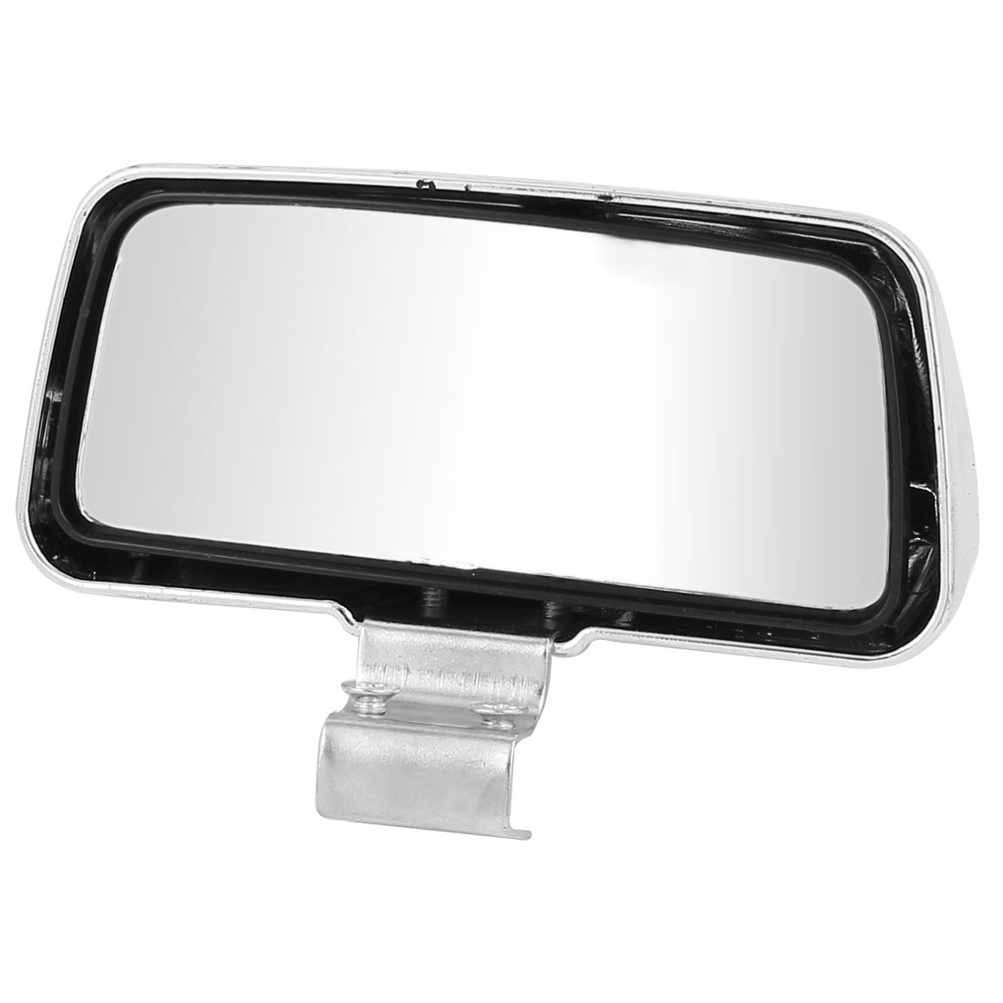 Plasic Frame Auto Car Rectangle Blind Spot Rear View Mirror Silver Tone