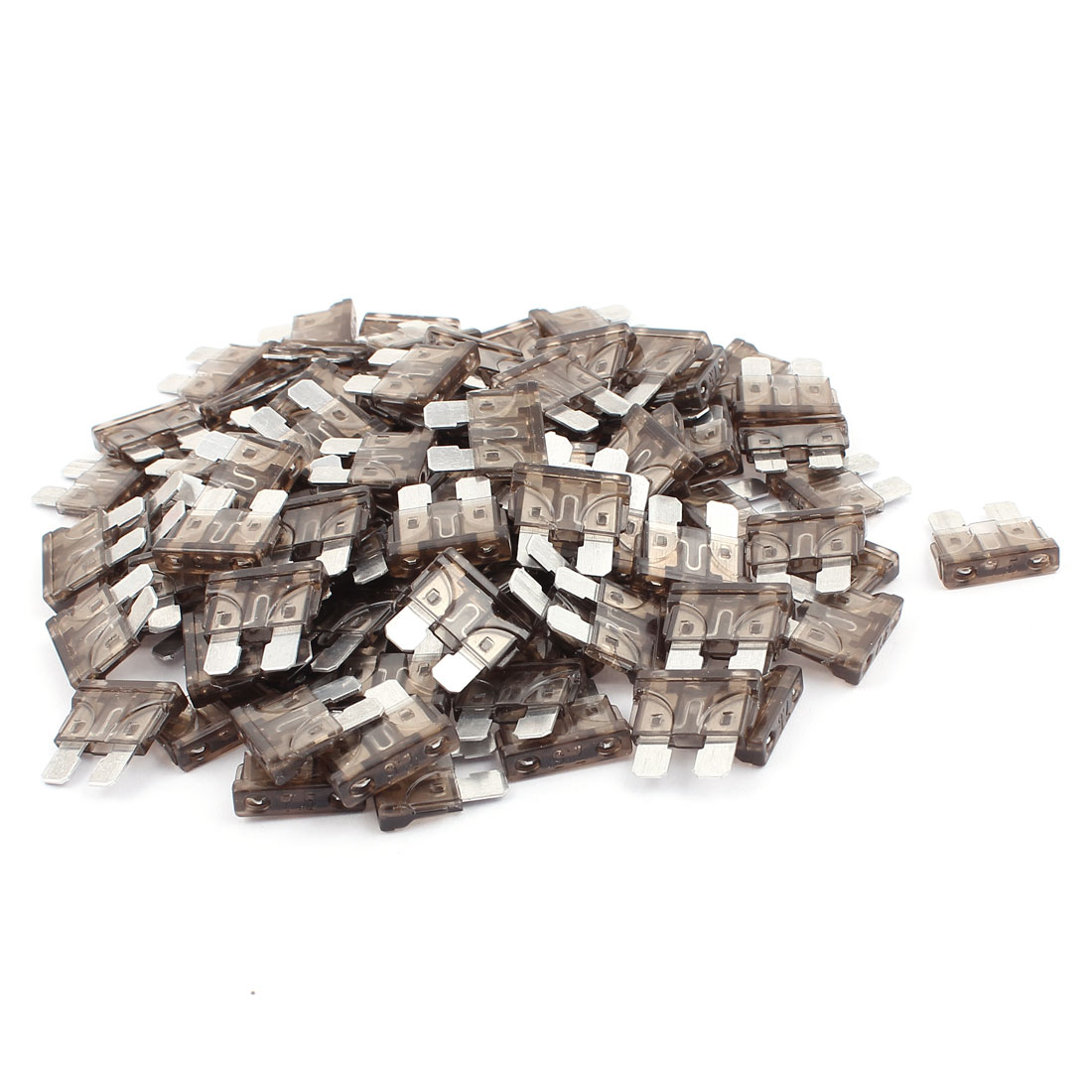100pcs Automotive Motorcycle Car Truck SUV Boat ATC Mini Blade Fuses 7.5A Gray