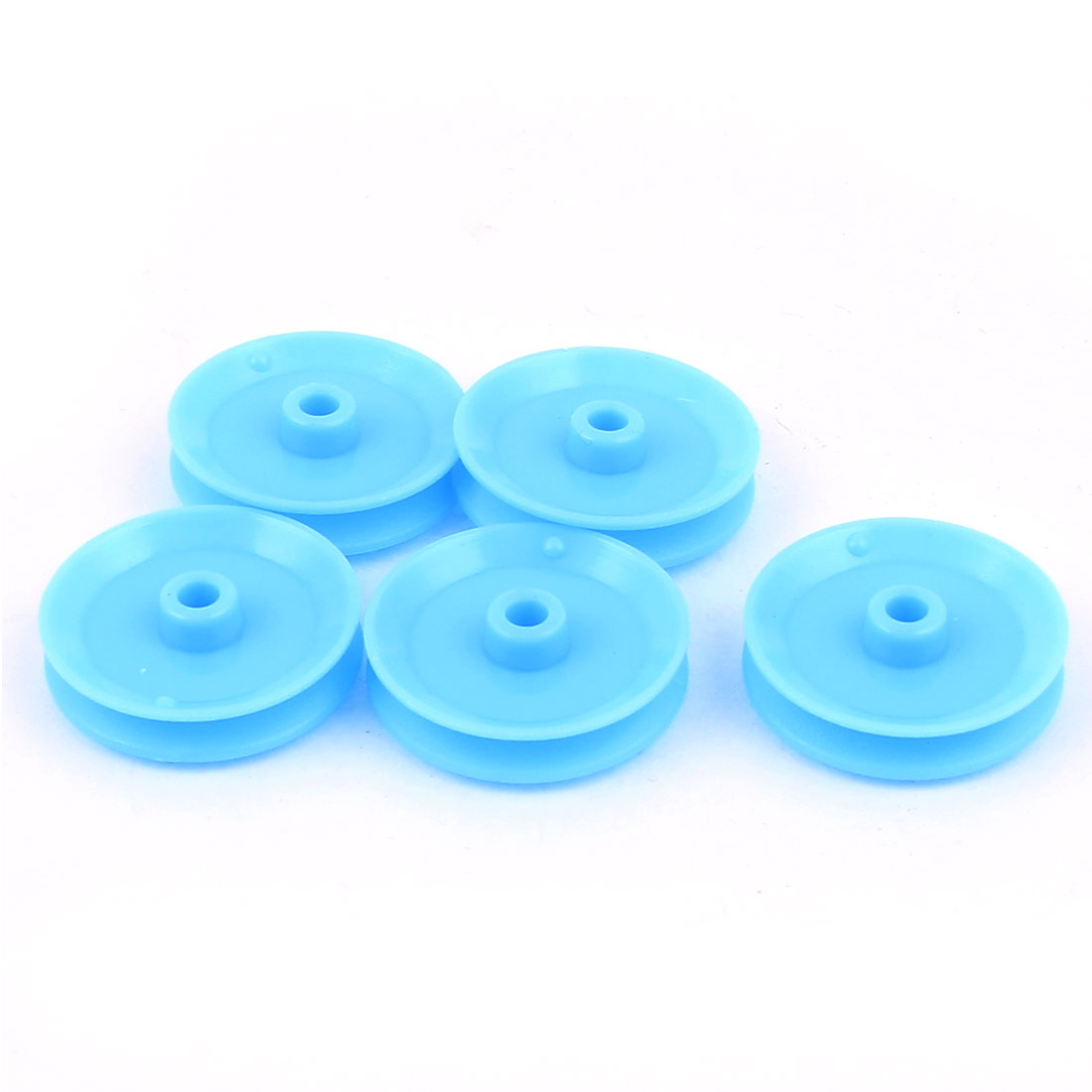 5 Pcs Plastic 29mm Diameter 6mm Thickness DIY Gear Band Pulley Blue