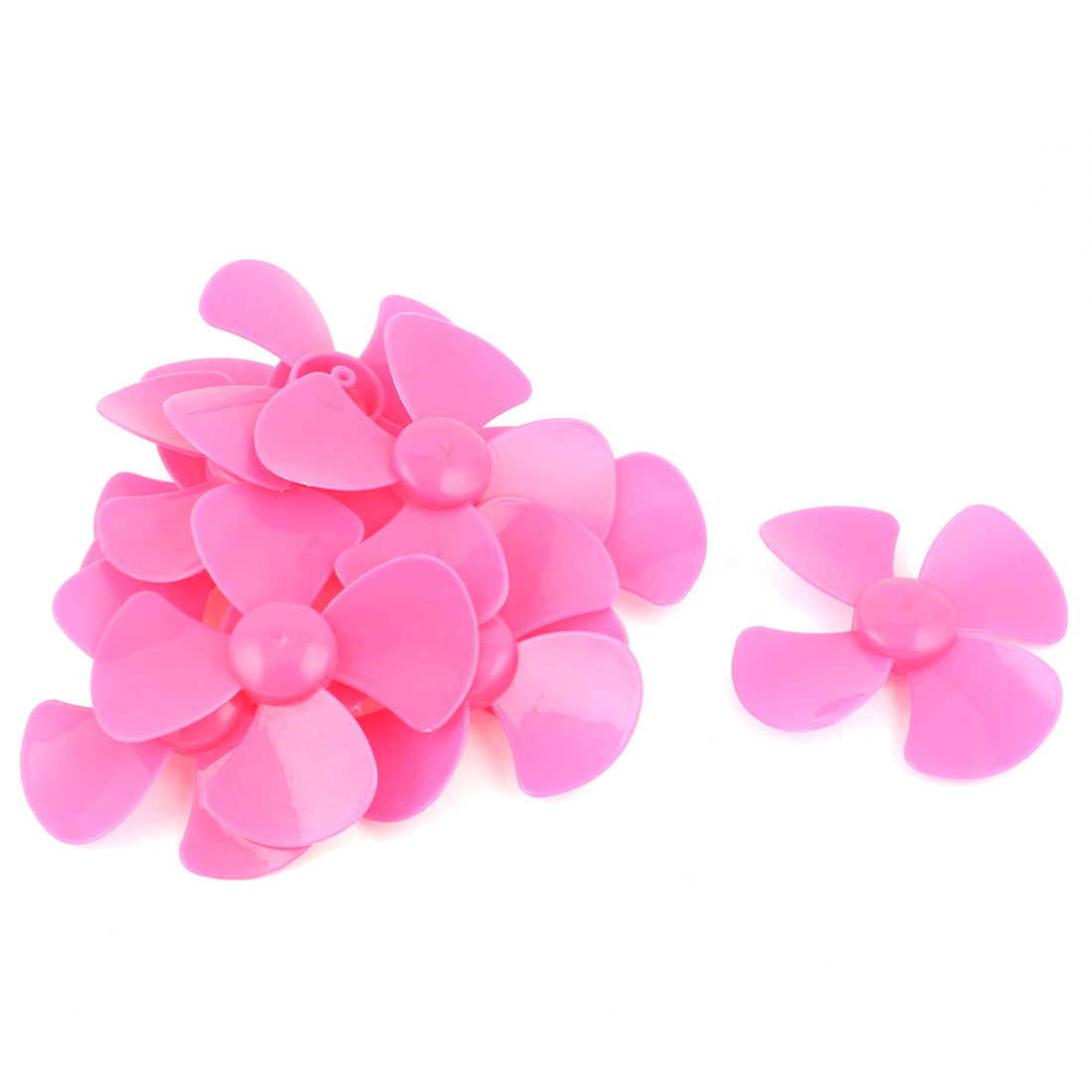 "10 Pcs Fan Style Brushless Motor 4 Vanes RC Boat Airplane Propeller 3"" DIY Pink"