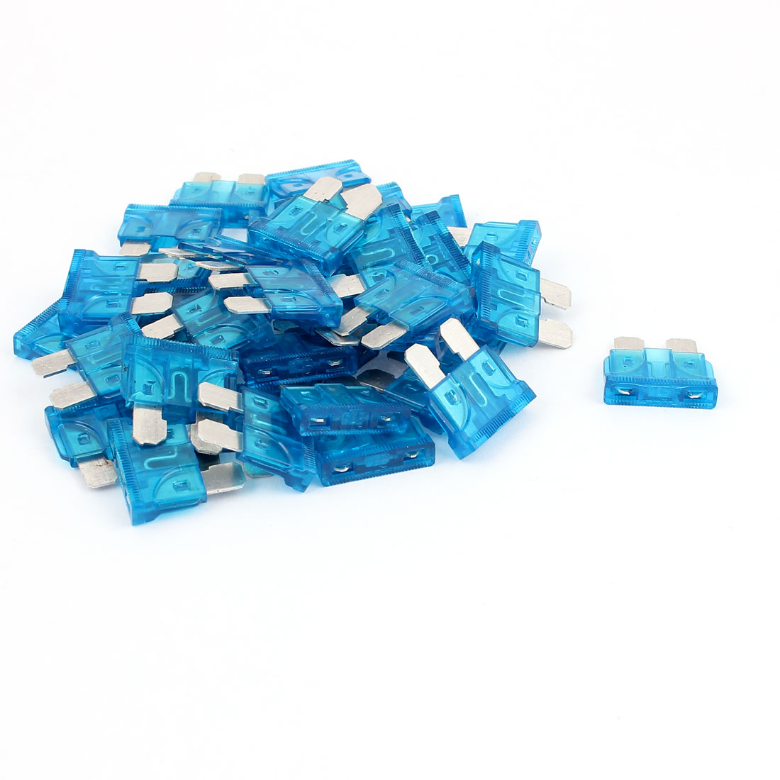 40pcs Blue 15A Plastic House Mini Blade Fuse for Auto Car Truck Motorcycle SUV