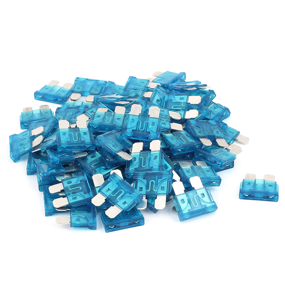 75pcs Automotive Motorcycle Car Truck SUV Boat ATC ATO Mini Blade Fuses 15A Blue