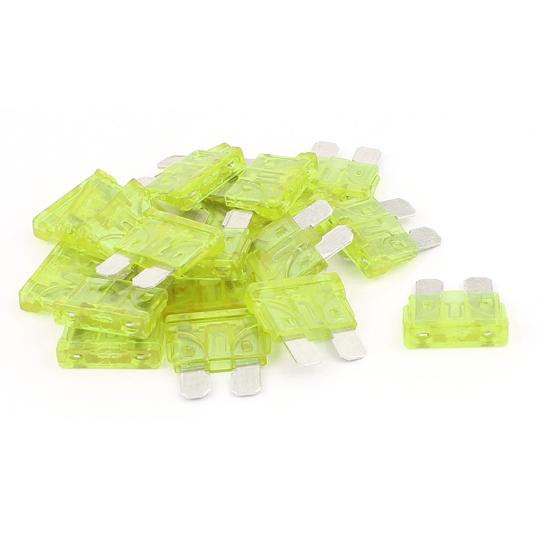 20pcs Auto Motorcycle Car Caravan SUV Boat ATC ATO Mini Blade Fuses 20A Yellow