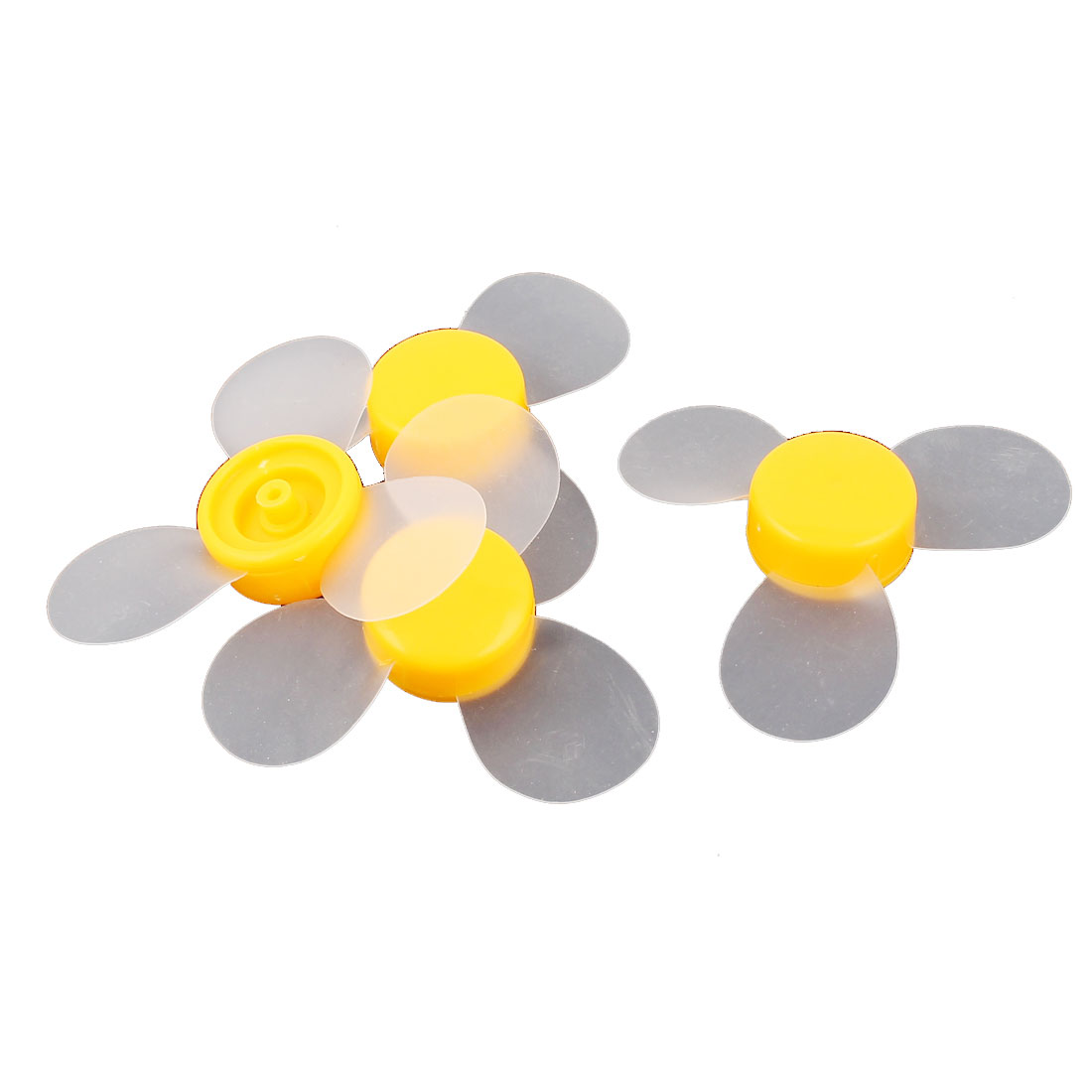 4 Pcs Fan Style Brushless Motor 3 Vanes DIY RC Boat Airplane Propeller Yellow