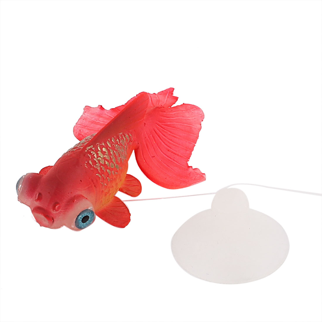 Plastic Artificial Goldfish Fish Tank Aquarium Ornament Red