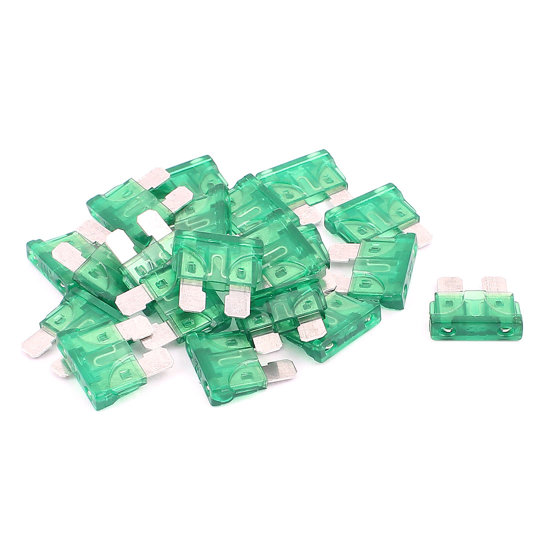 20pcs 30A Green Plastic Housing Blade Fuse for Auto Car Truck Motorbike SUV
