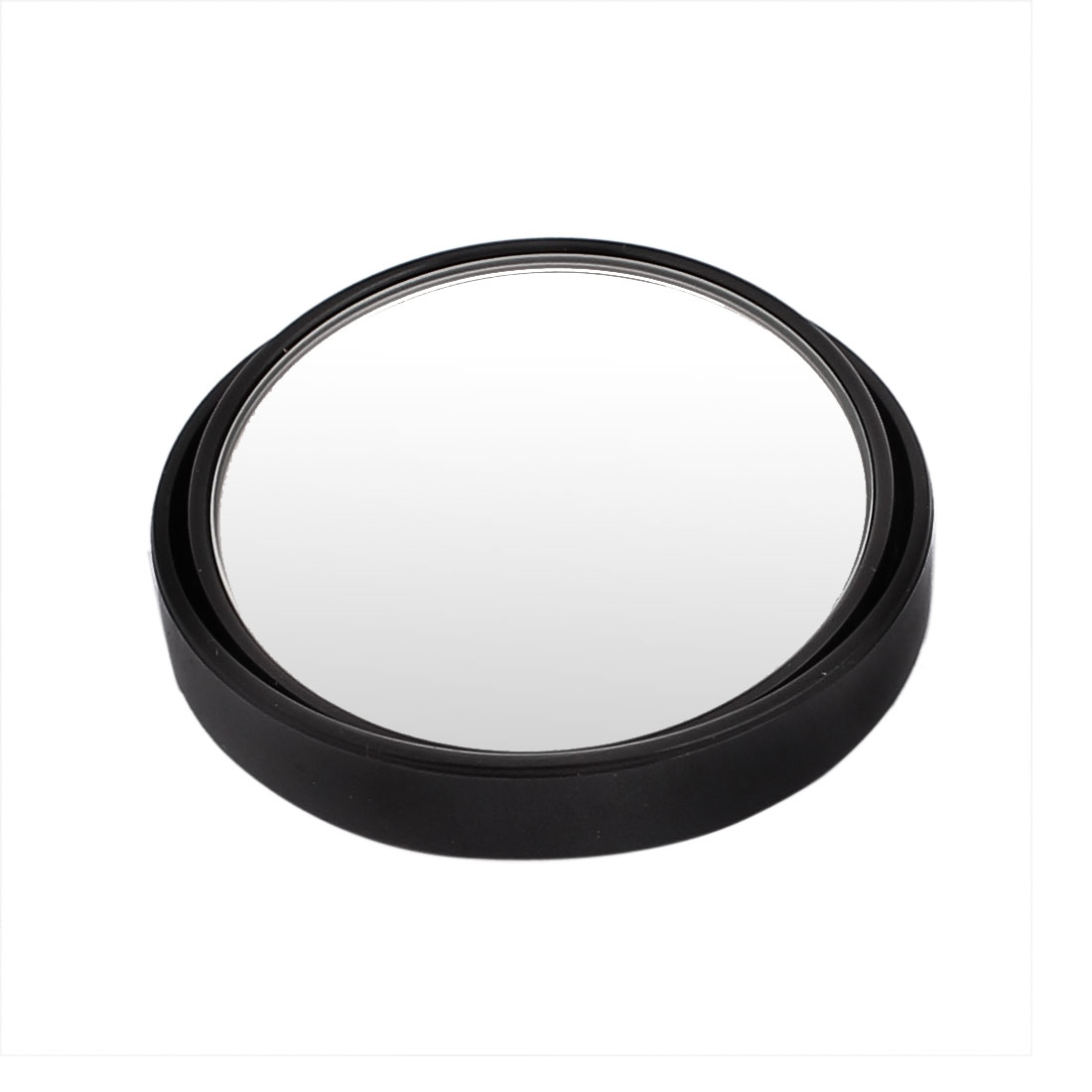 Plastic Shell Round Convex Self Adhesive Blind Spot Rear View Mirror Black