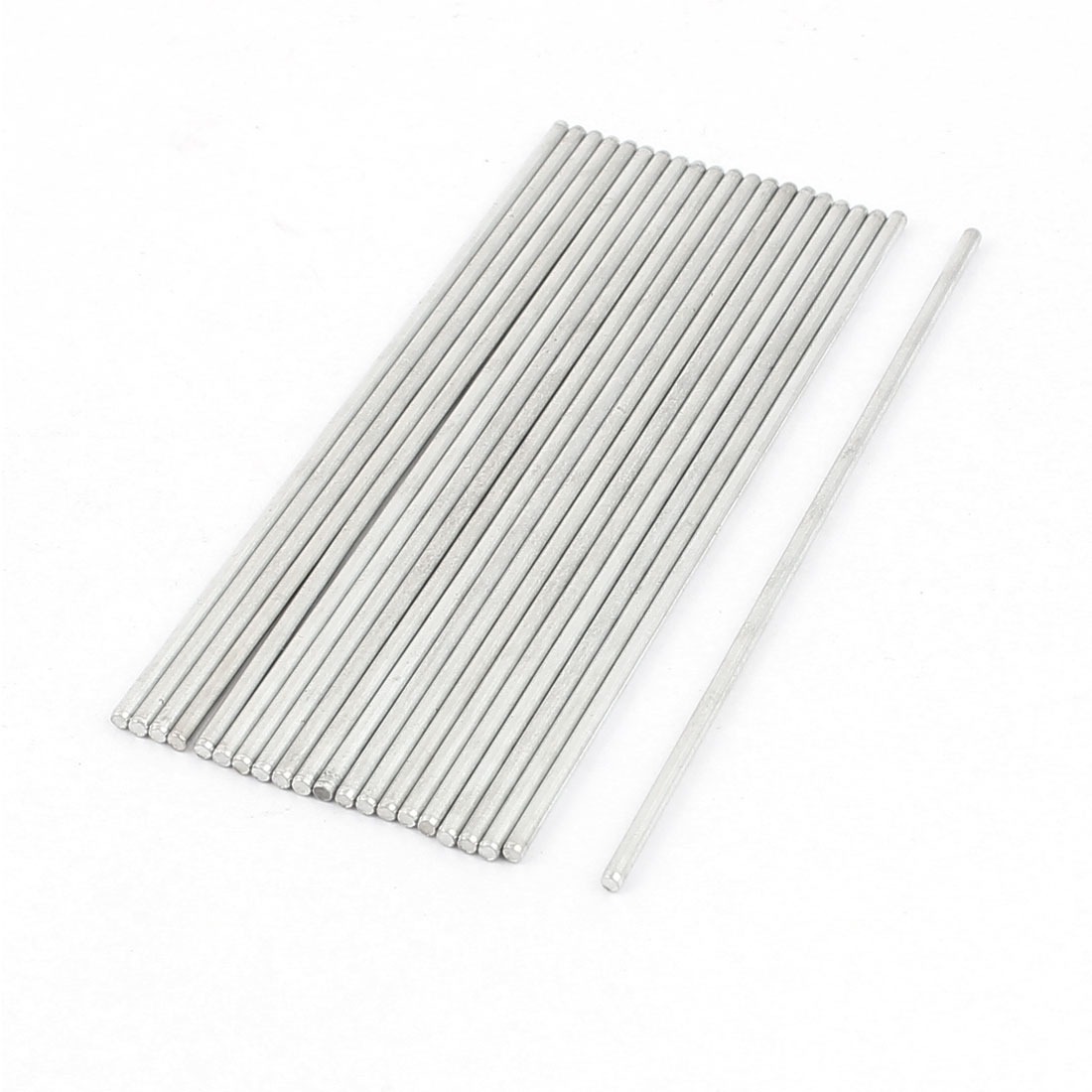 20 Pcs 2mm x 100mm DIY RC Car Toy Model Straight Metal Round Shaft Rod Bars