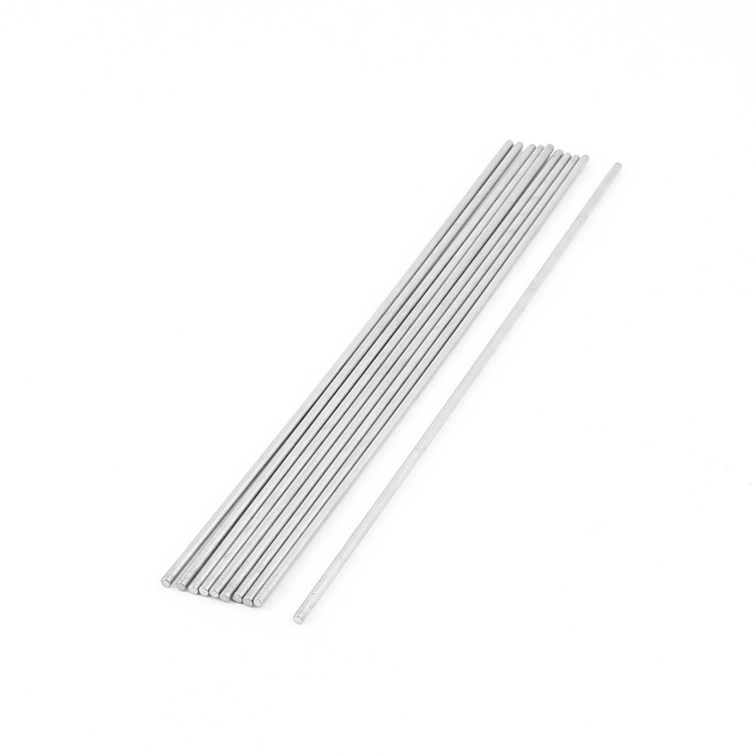 10 Pcs 2mm x 150mm DIY RC Car Toy Model Straight Metal Round Shaft Rod Bars