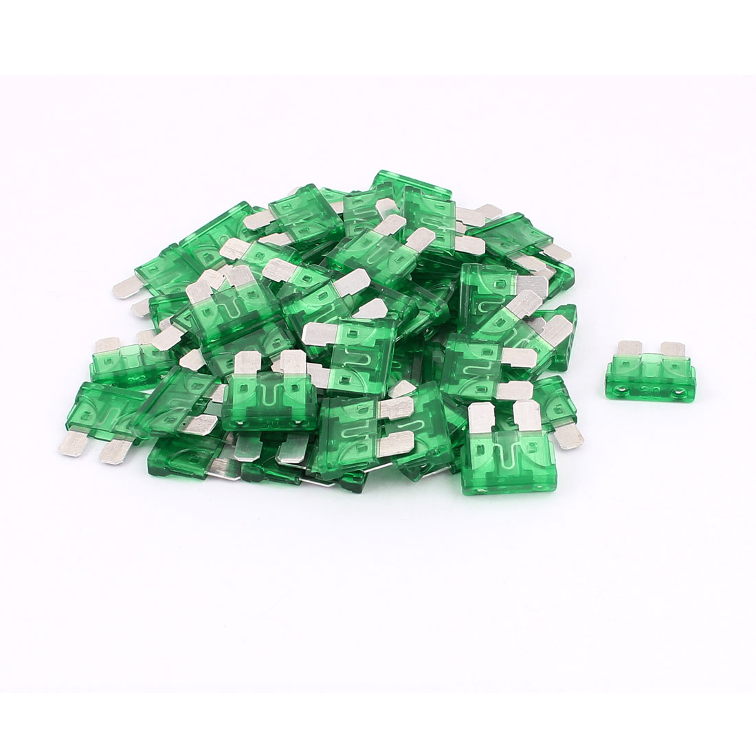 60pcs Mini Automotive Motorbike Car Caravan SUV Boat ATC Blade Fuses 30A Green