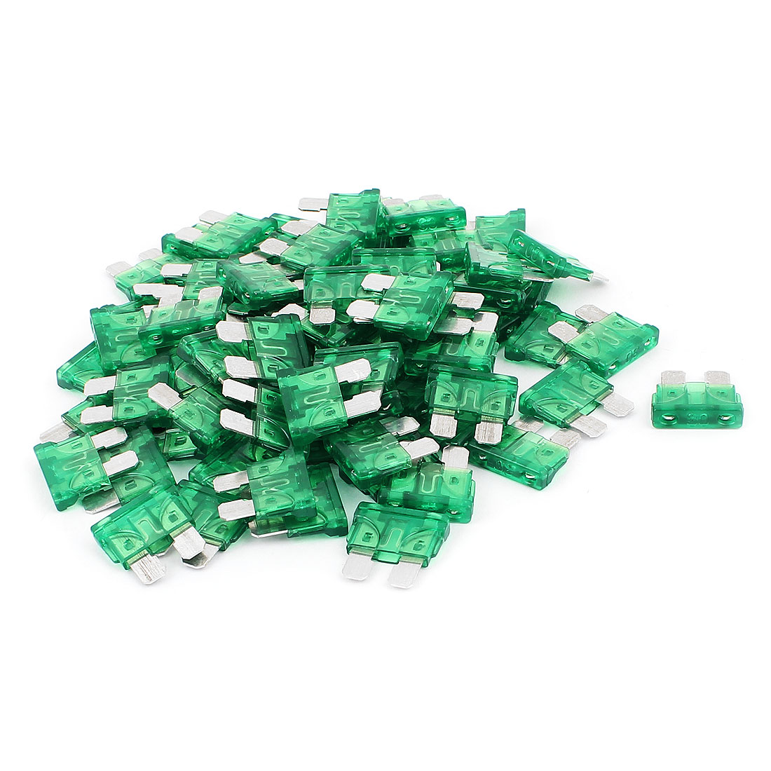 75pcs Mini Automotive Motorcycle Car Caravan SUV Boat ATC Blade Fuses 30A Green