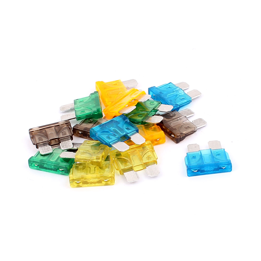 15pcs Assorted Color Plastic Case ATC ATO Mini Blade Fuses for Car Caravan Truck Vehicle