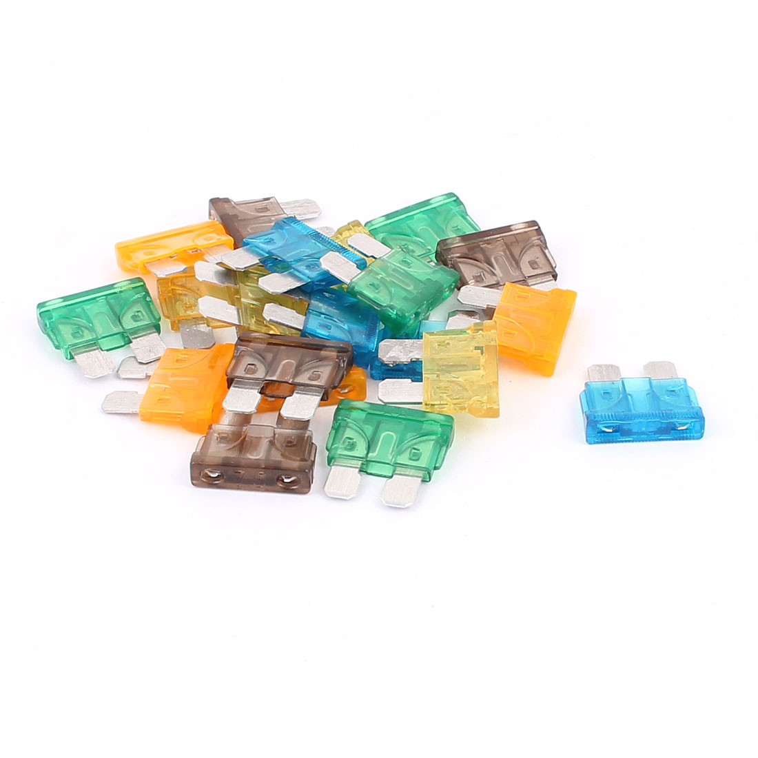 20pcs Assorted Color Plastic Housing ATC ATO Mini Blade Fuses for Auto Car Caravan Vehicle