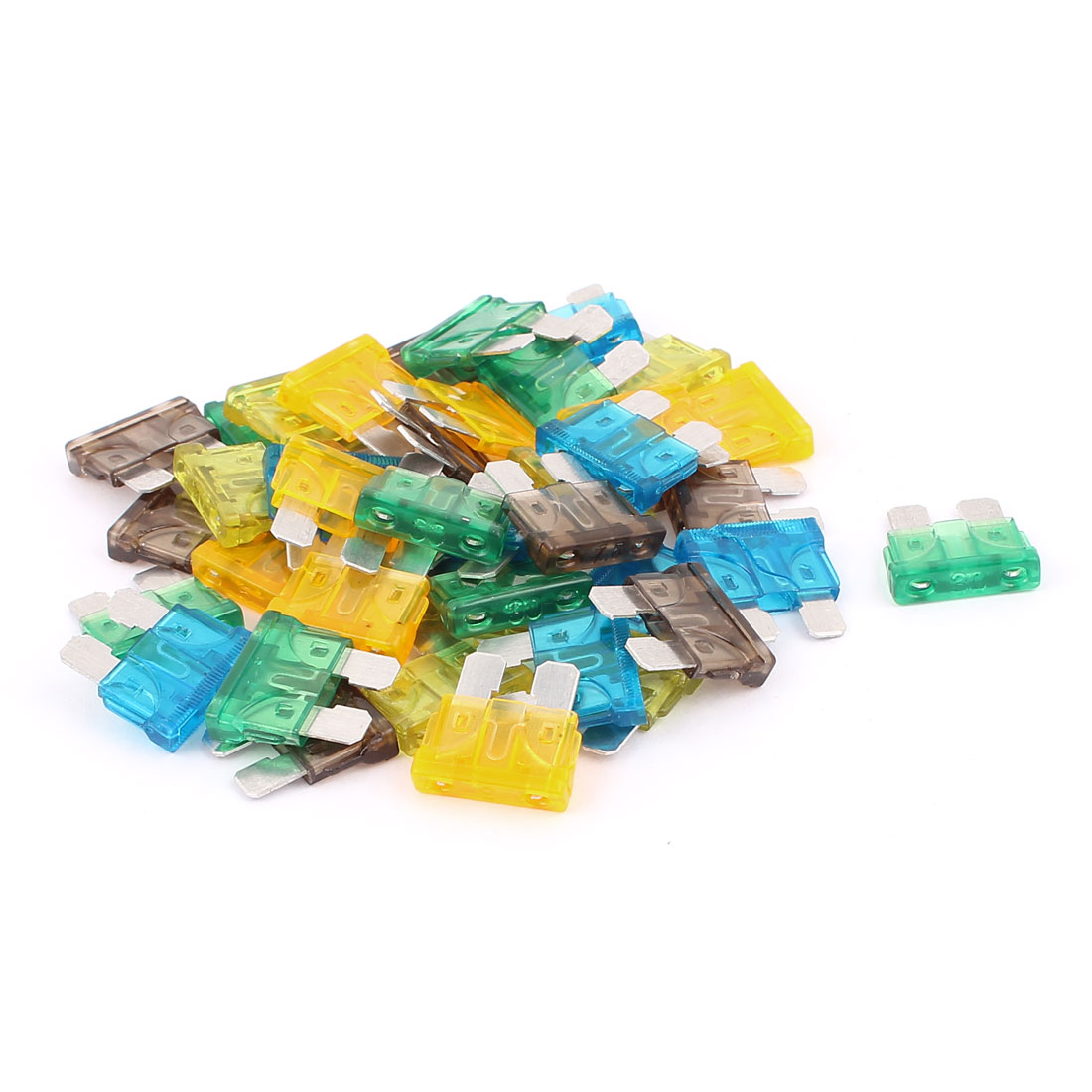 40pcs Motorbike Car Vehicle Caravan SUV Boat ATC ATO Mini Blade Fuses Assorted Color
