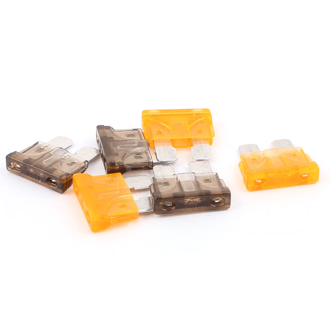 6pcs Orange Gray 7.5A 5A Plastic Shell Mini Blade Fuse for Auto Car Caravan Motorcycle SUV