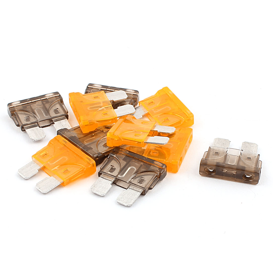 10pcs Orange Gray 7.5A 5A Plastic Shell Mini Blade Fuse for Car Truck Caravan Motorcycle SUV