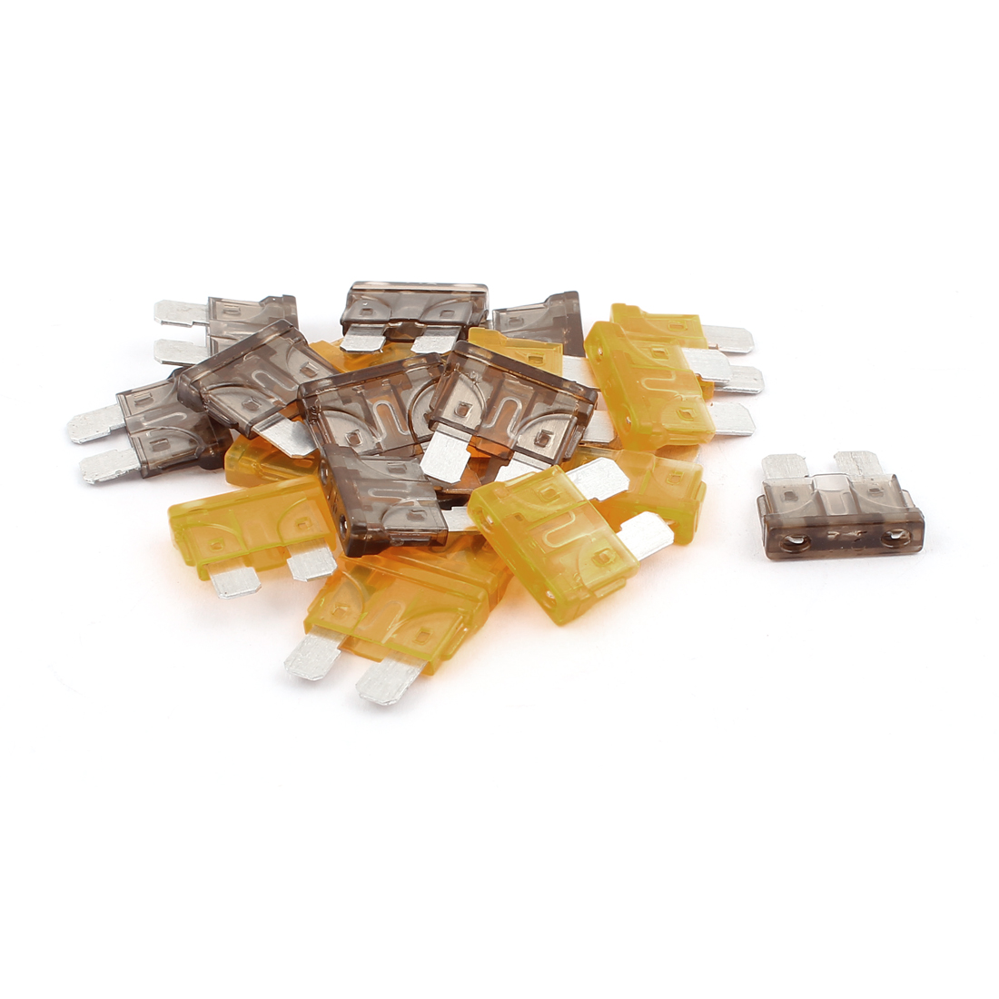20pcs Motorcycle Car Truck Caravan SUV Boat ATC ATO Mini Blade Fuses 7.5A 5A Orange Gray