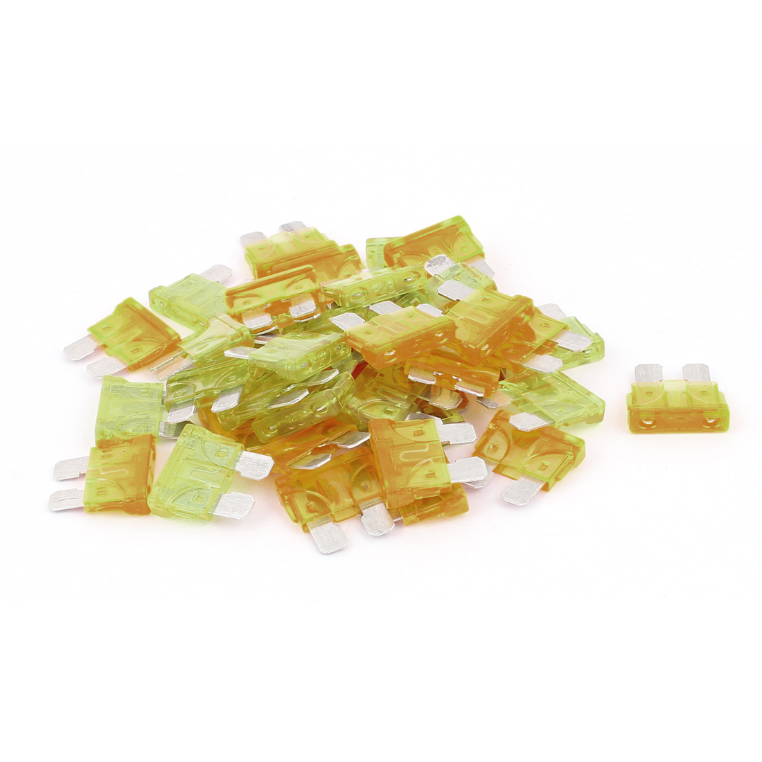 40pcs Auto Motorcycle Car Truck Caravan SUV Boat ATC ATO Mini Blade Fuses 20A 5A Yellow Orange