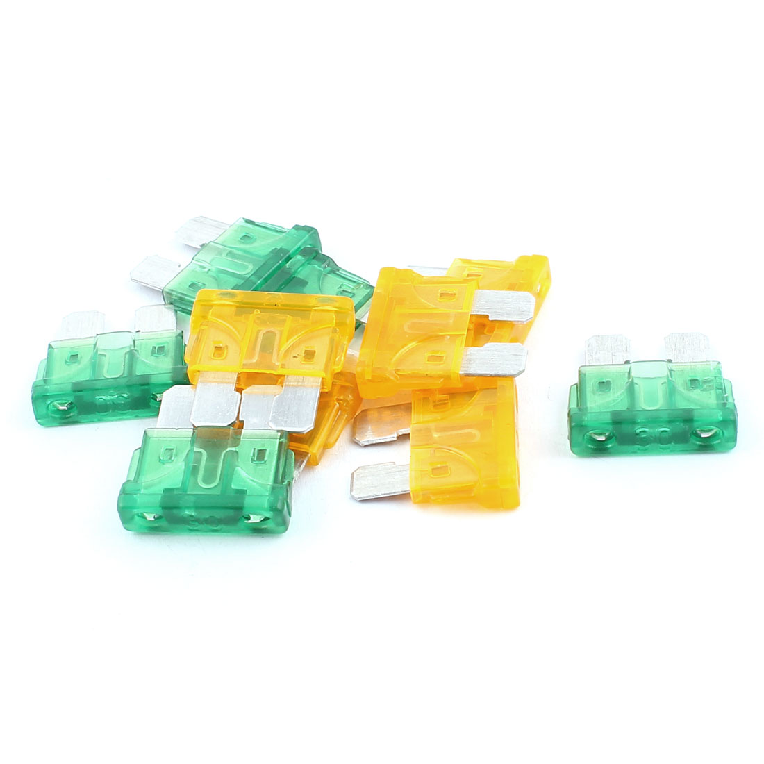 10pcs Motorbike Car Vehicle Caravan SUV Boat ATC ATO Mini Blade Fuses 30A 5A Orange Green