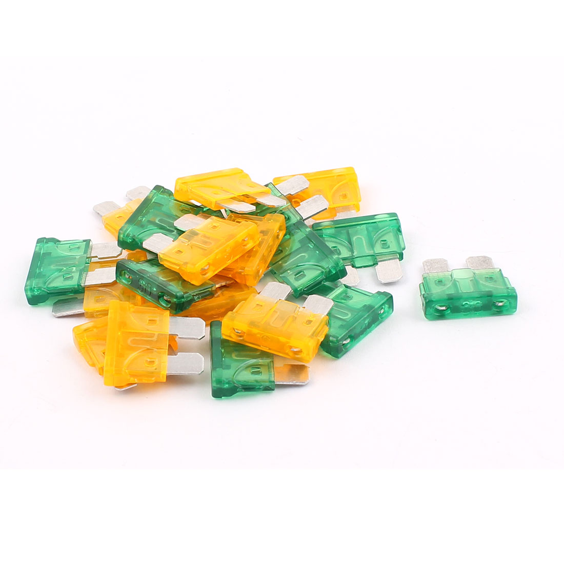20pcs Automotive Car Vehicle Caravan SUV Boat ATC ATO Mini Blade Fuses 30A 5A Orange Green
