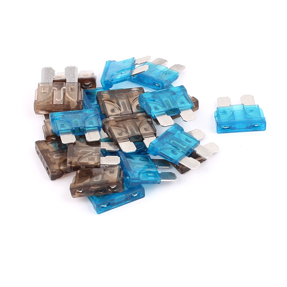 20pcs Automotive Car Vehicle Truck SUV Boat ATO ATC Mini Blade Fuses 7.5A 15A Blue Gray