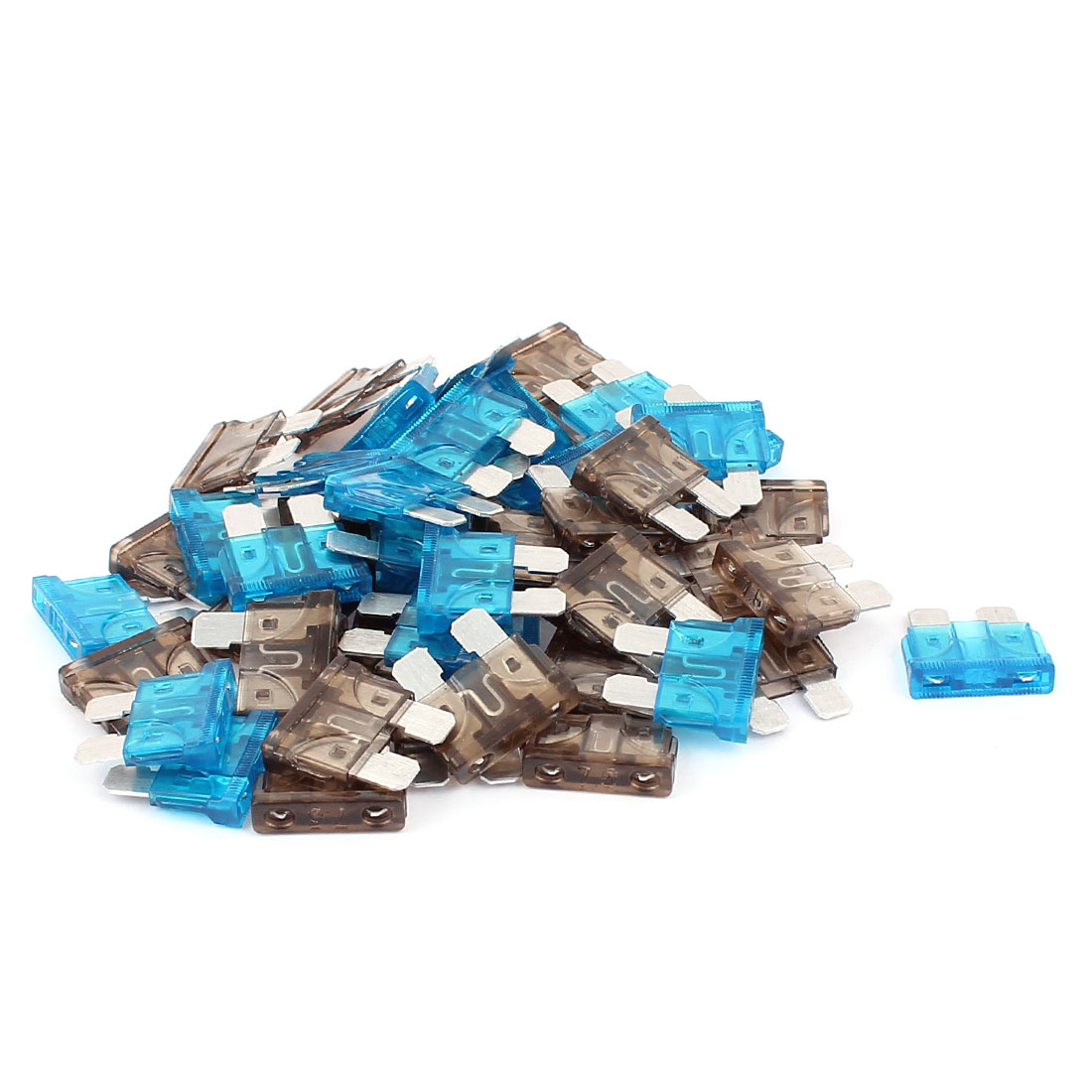 50pcs Automotive Car Vehicle Truck Boat ATO ATC Mini Blade Fuses 7.5A 15A Blue Gray