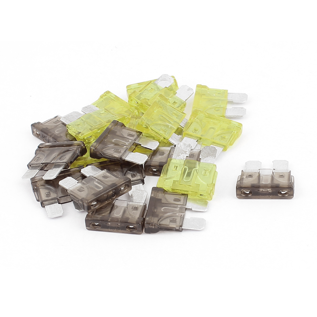 20pcs Yellow Green 7.5A 20A Plastic Shell Mini Blade Fuse for Car Caravan Vehicle Motorbike SUV