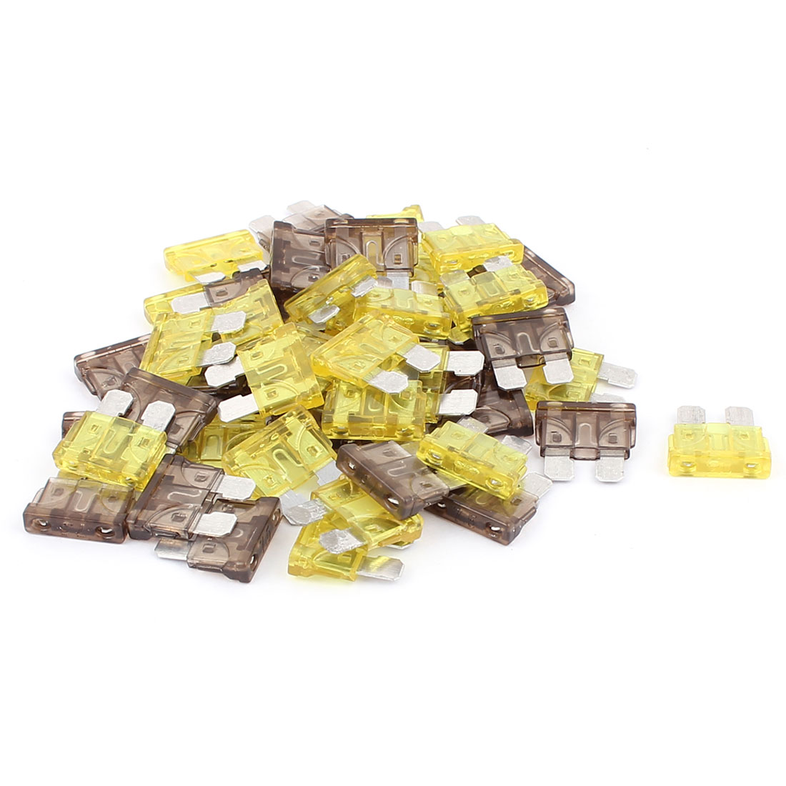 50pcs Caravan Car Vehicle Truck Boat ATC ATO Mini Blade Fuses 7.5A 20A Yellow Green