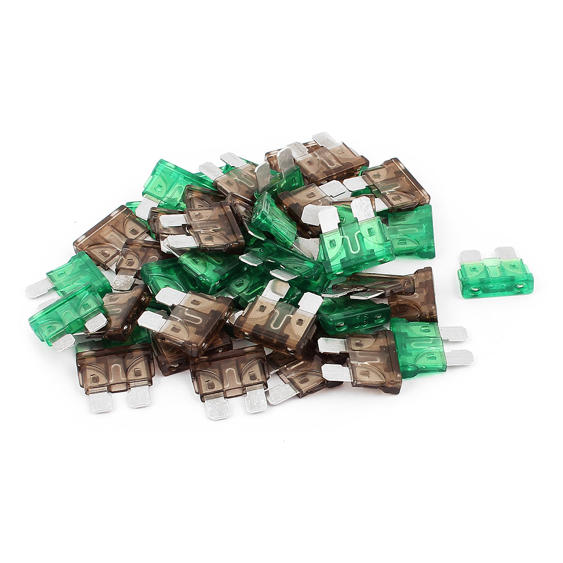 50pcs Automotive Car Truck Caravan SUV Boat ATC ATO Mini Blade Fuses 7.5A 30A Green Gray